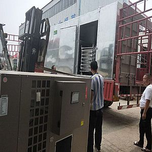 空气能热泵亿博客服设备发往山西晋城